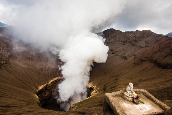 Indonesia, Java - Mt Bromo and a traditional offering